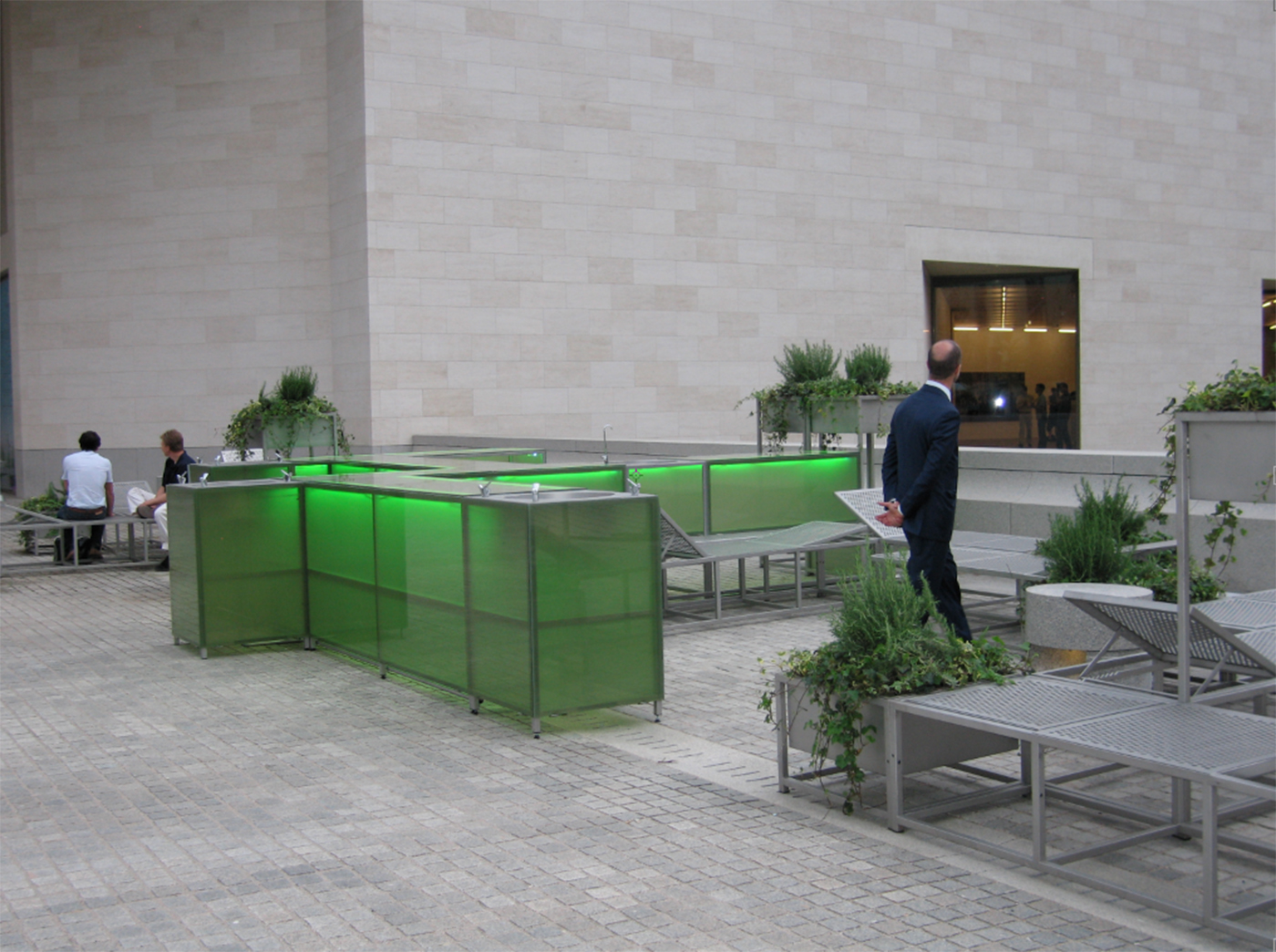 Andrea Blum - Gardens + Fountains Summer Café , 2005