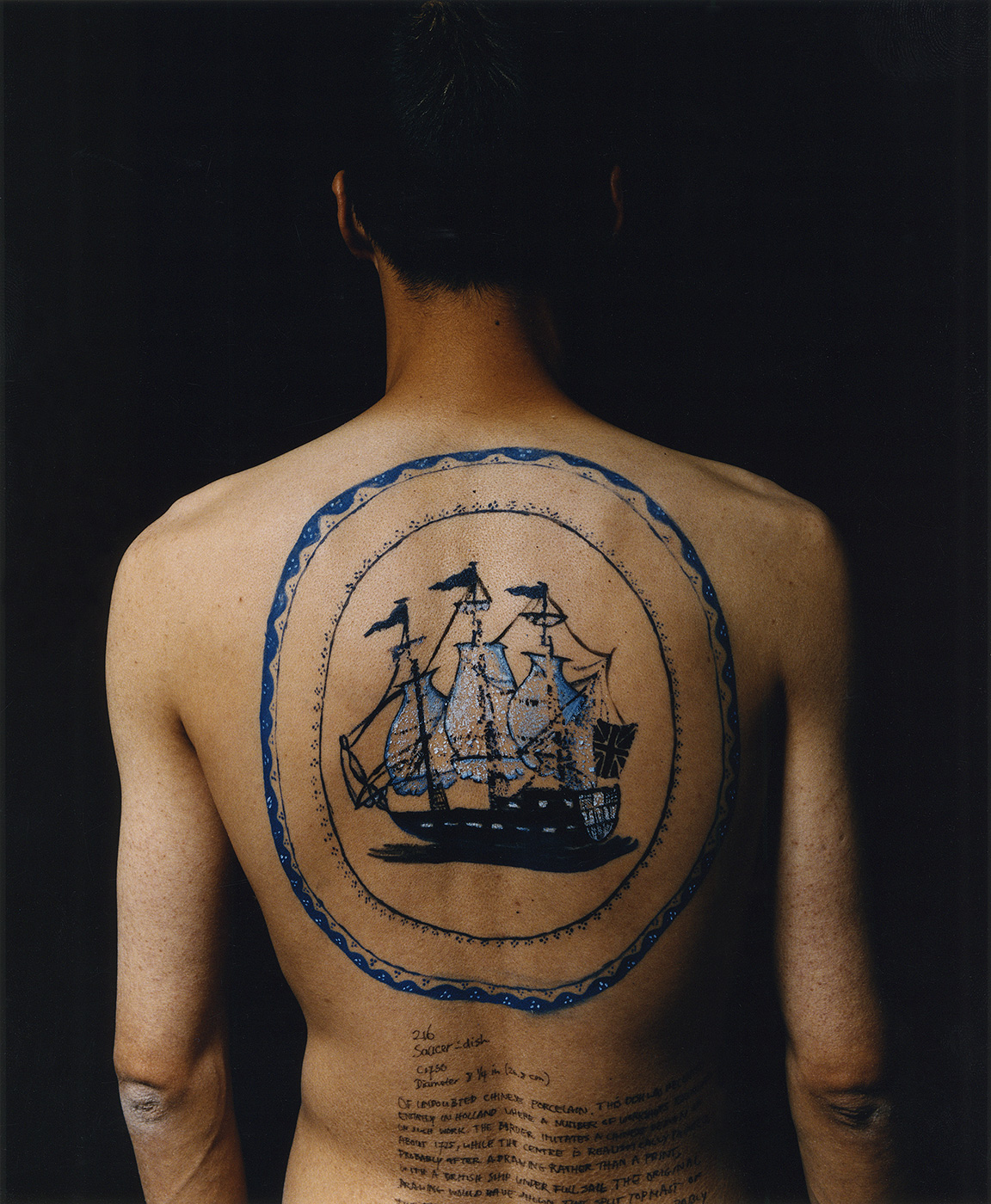 Haifeng Ni - Self-Portrait as Part of the Porcelain Export History 1 - Back, 1999-2001
